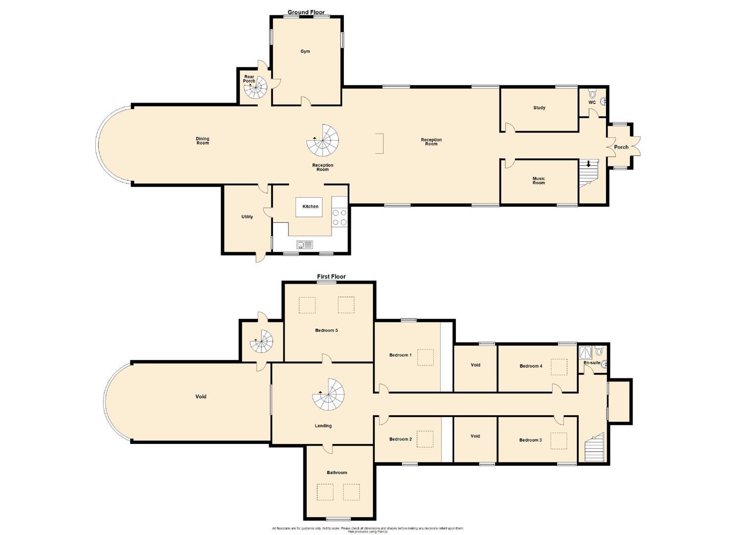 5 Bedroom Detached House For Sale - Floorplan 1